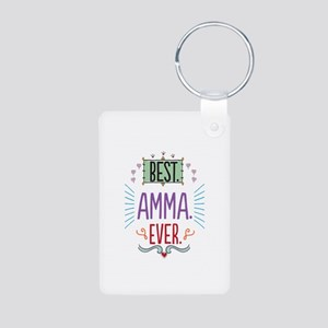 Amma Aluminum Photo Keychain
