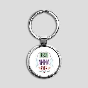 Amma Round Keychain