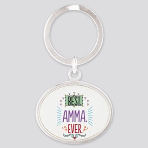 Amma Oval Keychain
