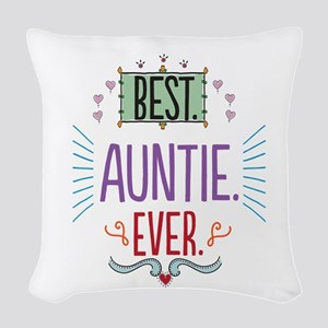 Auntie Woven Throw Pillow