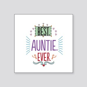 "Auntie Square Sticker 3"" x 3"""