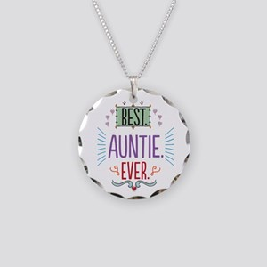 Auntie Necklace Circle Charm