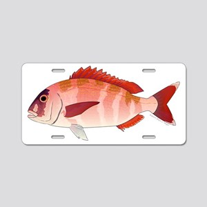 Red Porgy Aluminum License Plate