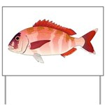 Red Porgy Yard Sign