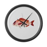 Red Porgy Large Wall Clock
