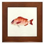 Red Porgy Framed Tile