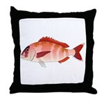 Red Porgy Throw Pillow