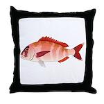 Red Porgy Throw Pillow