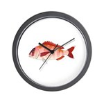 Red Porgy Wall Clock
