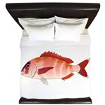 Red Porgy King Duvet