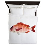 Red Porgy Queen Duvet
