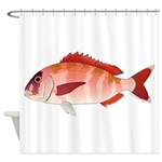 Red Porgy Shower Curtain
