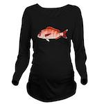 Red Porgy Long Sleeve Maternity T-Shirt