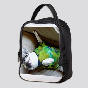 French Bulldog in Tie Dye Neoprene Lunch Bag