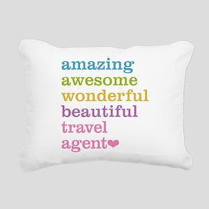 Travel Agent Rectangular Canvas Pillow