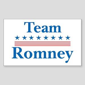 Team Romney Rectangle Sticker