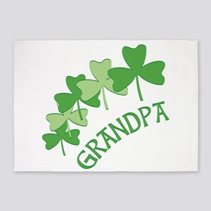 Grandpa Irish Shamrocks 5'x7'Area Rug