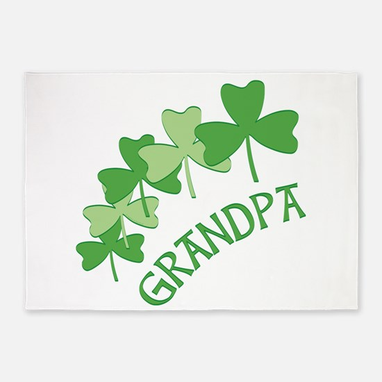Grandpa Irish Shamrocks 5'x7'Area Rug