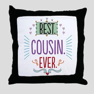 Cousin Throw Pillow