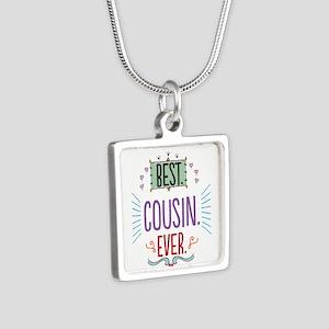Cousin Silver Square Necklace