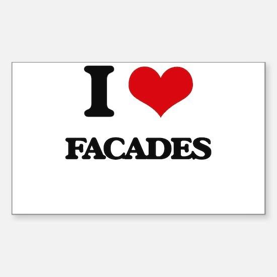 I Love Facades Decal