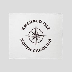 North Carolina - Emerald Isle Throw Blanket