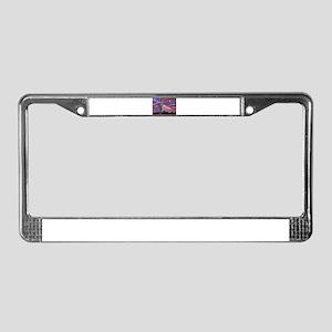 Christmas Lights Saguaro Cactu License Plate Frame
