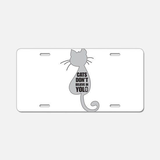 Cats YOLO Aluminum License Plate