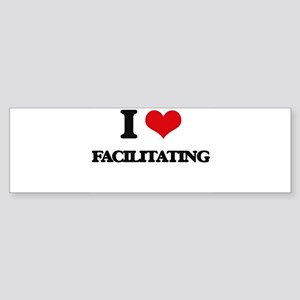 I Love Facilitating Bumper Sticker