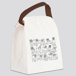 Pugs Canvas Lunch Bag