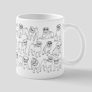 Pugs 11 oz Ceramic Mug