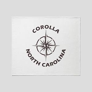 North Carolina - Corolla Throw Blanket
