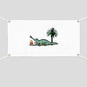 Xmas Gator Gift Banner