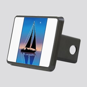 Sails at Sunset Silhouette Rectangular Hitch Cover