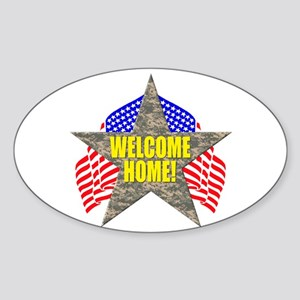 USA Troops Welcome Home Oval Sticker