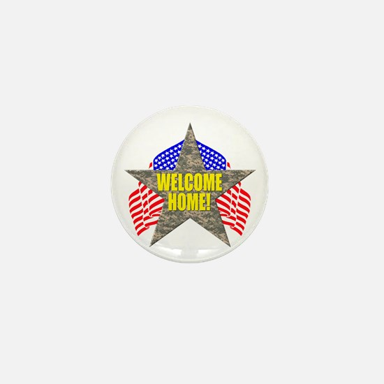 USA Troops Welcome Home Mini Button