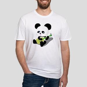 Panda Ukulele Fitted T-Shirt