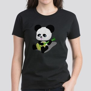 Panda Ukulele Women's Dark T-Shirt