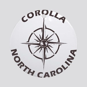 North Carolina - Corolla Round Ornament