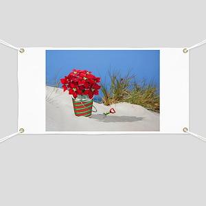 Pointsettia in a Sand Pail Banner