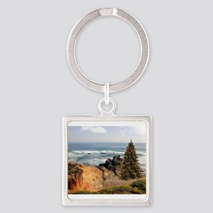 Christmas Tree at the Ocean Keychains