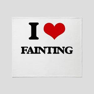I Love Fainting Throw Blanket