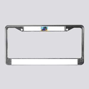 Xmas Tree Woodie License Plate Frame