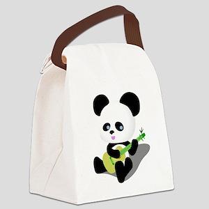 Panda Ukulele Canvas Lunch Bag