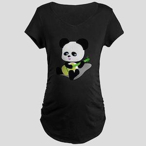 Panda Ukulele Maternity T-Shirt