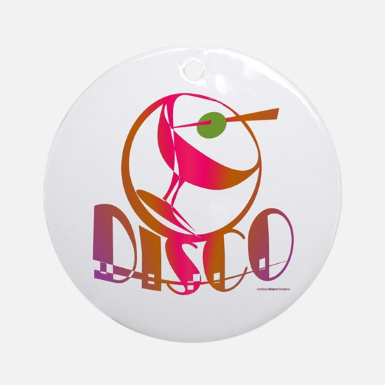 Disco Martini Ornament (Round)