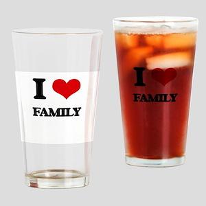 I Love Family Drinking Glass