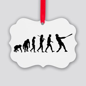 Evolution of Baseball Picture Ornament