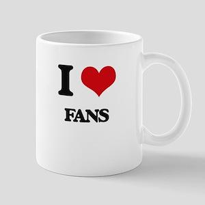 I Love Fans Mugs