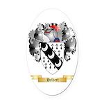 Helbert Oval Car Magnet